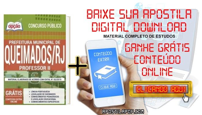 Baixar Apostila Prefeitura de Queimados 2019 PDF Professor II