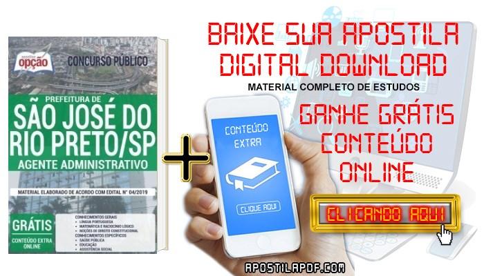 Apostila Prefeitura de São José do Rio Preto 2019 PDF Agente Administrativo