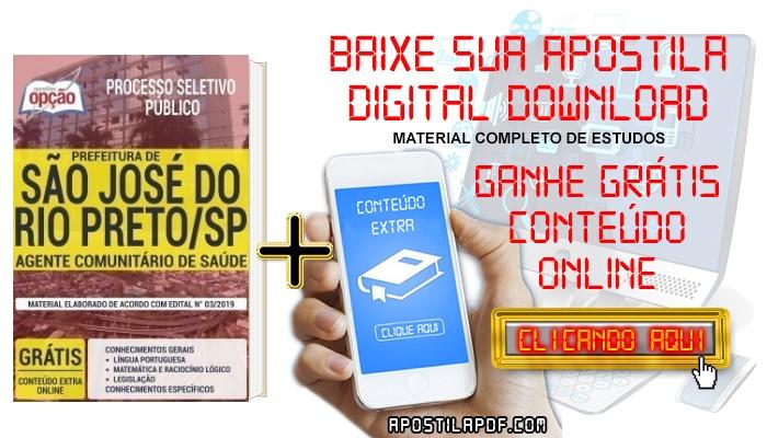 Baixar Apostila Concurso Prefeitura de São José do Rio Preto 2019 PDF Agente Comunitário de Saúde