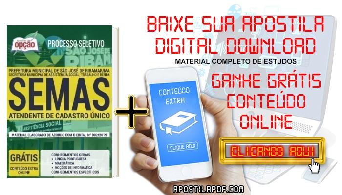 Baixar Apostila Concurso SEMAS 2019 PDF Atendente de Cadastro Único