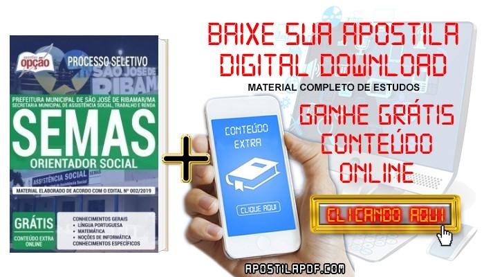 Baixar Apostila Concurso SEMAS 2019 PDF Orientador Social
