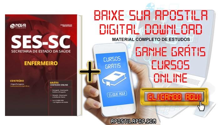 Baixar Apostila Concurso SES SC 2019 Enfermeiro PDF Grátis Cursos Online