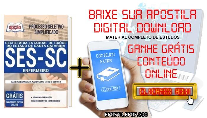 Baixar Apostila Concurso SES SC 2019 PDF Enfermeiro