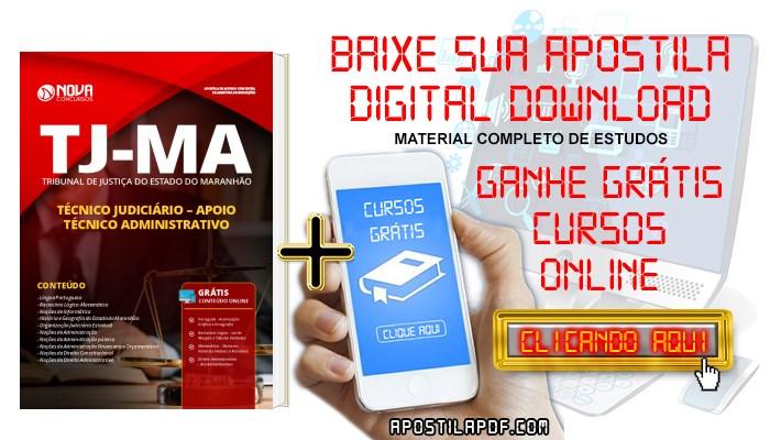 Baixar Apostila TJ MA 2019 Técnico Judiciário Apoio Técnico Administrativo PDF e Impressa Grátis Cursos Online