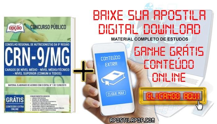 Baixar Apostila Concurso CRN 9ª Região 2019 PDF Cargos de Nível Médio e Superior