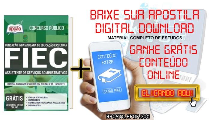 Baixar Apostila Concurso FIEC 2019 PDF Assistente de Serviços Administrativos