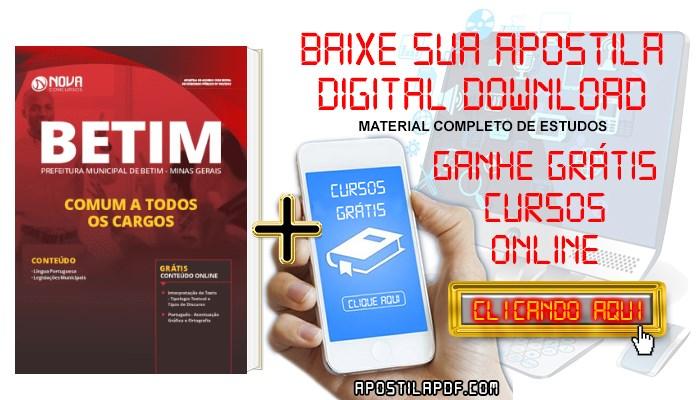 Baixar Apostila Concurso Prefeitura de Betim 2019 Comum a Todos os Cargos PDF Grátis Cursos Online