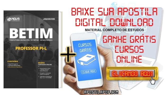 Baixar Apostila Concurso Prefeitura de Betim 2019 Professor PI-L PDF Grátis Cursos Online