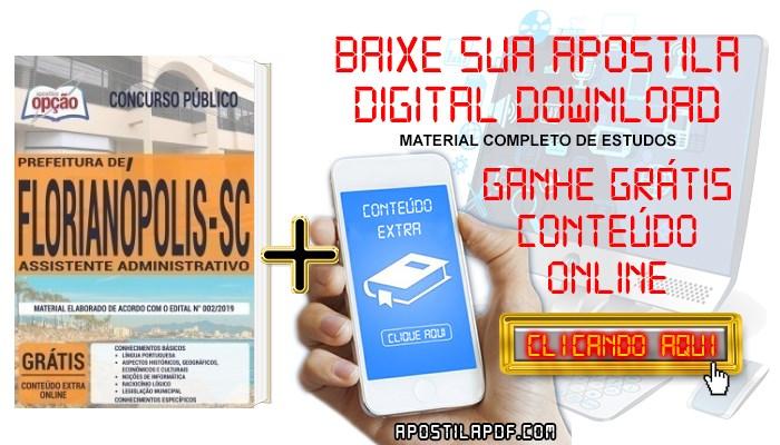 Baixar Apostila Concurso Prefeitura de Florianópolis 2019 PDF Assistente Administrativo