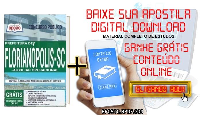 Baixar Apostila Concurso Prefeitura de Florianópolis 2019 PDF Auxiliar Operacional