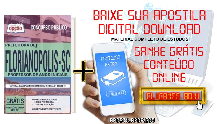 Apostila Prefeitura de Florianópolis 2019 PDF Professor de Anos Iniciais