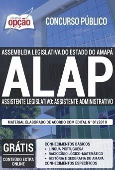 Apostila Concurso ALAP 2019 Assistente Legislativo Assistente Administrativo PDF Download Digital e Impressa