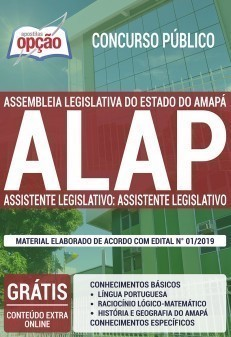 Apostila Concurso ALAP 2019 Assistente Legislativo PDF e Impressa