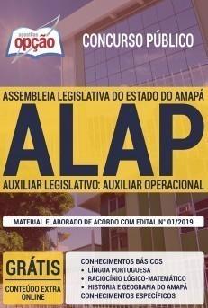 Apostila ALAP 2019 Auxiliar Legislativo Auxiliar Operacional PDF e Impressa