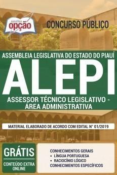 Apostila ALEPI 2019 Assessor Técnico Legislativo Área Administrativa PDF e Impressa