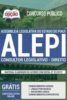 Apostila ALEPI 2019 Consultor Legislativo Área Direito PDF e Impressa