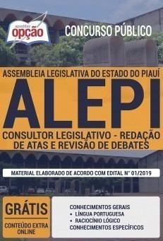 Apostila ALEPI 2019 Consultor Legislativo Redação de Atas e Revisão de Debates PDF e Impressa