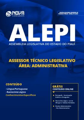 Apostila Concurso ALEPI 2019 Grátis Cursos Online Assessor Técnico Legislativo