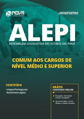 Apostila Concurso ALEPI 2019 Cargos de Nível Médio e Superior Grátis Cursos Online