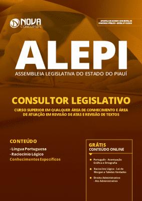 Apostila Concurso ALEPI 2019 Consultor Legislativo Grátis Cursos Online