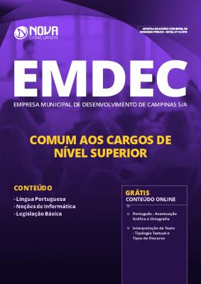 Apostila Concurso EMDEC 2019 Cargos de Nível Superior Grátis Cursos Online