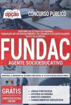 Apostila Concurso FUNDAC PB 2019 Agente Socioeducativo PDF e Impressa