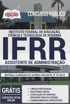Apostila Concurso IFRR 2019 Assistente de Administração PDF Download Digital e Impressa