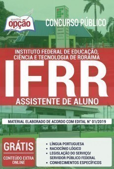 Apostila Concurso IFRR 2019 Assistente de Aluno PDF Download Digital e Impressa