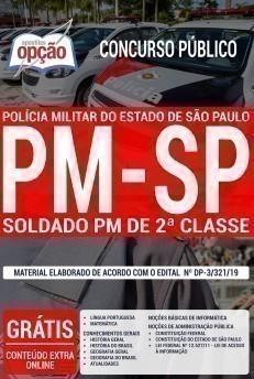 Apostila Concurso PM SP 2019 Soldado PDF e Impressa