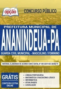 Apostila Concurso Prefeitura de Ananindeua 2019 Guarda Civil Municipal PDF Download Digital e Impressa