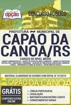 Apostila Concurso Prefeitura de Capão da Canoa 2019 PDF e Impressa