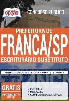 Apostila Concurso Prefeitura de Franca 2019 PDF e Impressa