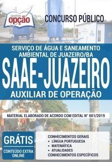 Apostila Concurso SAAE Juazeiro BA 2019 PDF e Impressa