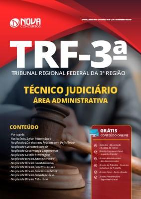 Apostila Concurso TRF 3ª Região 2019 Técnico Judiciário Área Administrativa Grátis Cursos Online