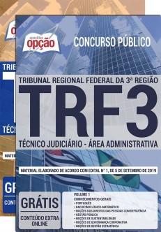 Apostila TRF 3 2019 Técnico Judiciário Área Administrativa PDF e Impressa