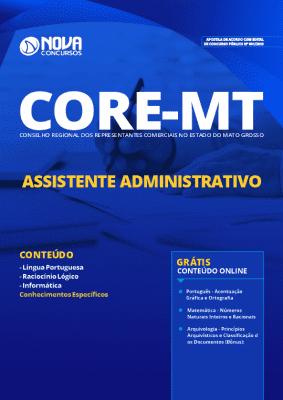 Apostila Concurso CORE MT 2019 Assistente Administrativo Grátis Cursos Online