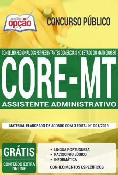 Apostila CORE MT 2019 Assistente Administrativo PDF e Impressa