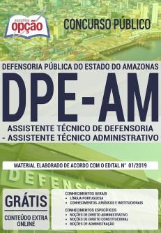 Apostila DPE AM 2019 Assistente Técnico de Defensoria - Assistente Técnico Administrativo