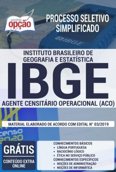Apostila IBGE 2019 Agente Censitário Operacional PDF e Impressa
