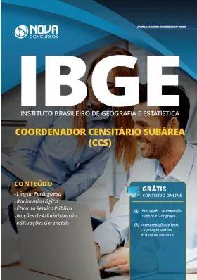 Apostila IBGE 2019 Coordenador Censitário Subárea Grátis Cursos Online