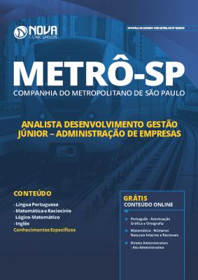 Apostila Metrô SP 2019 Analista Administração de Empresas Grátis Cursos Online