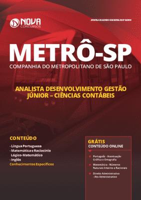 Apostila Metrô SP 2019 Analista em Ciências Contábeis Grátis Cursos Online