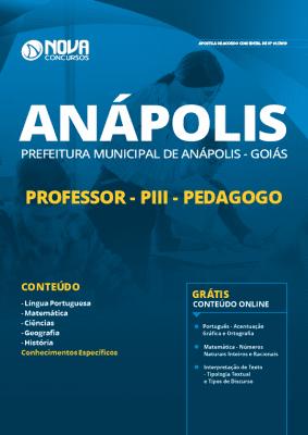 Apostila Prefeitura de Anápolis GO 2019 Professor Pedagogo