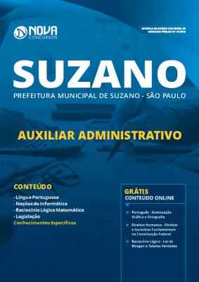 Apostila Prefeitura de Suzano 2019 Auxiliar Administrativo