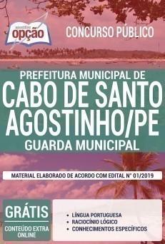 Apostila Prefeitura do Cabo de Santo Agostinho 2019 Guarda Municipal PDF e Impressa