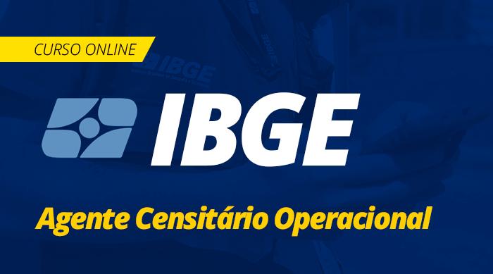 Curso Online IBGE 2019 Agente Censitário Operacional
