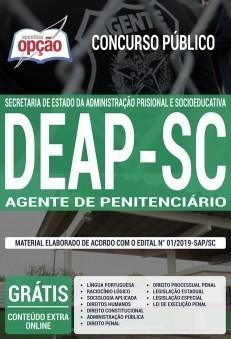 Apostila Concurso DEAP SC 2019 Agente Penitenciário PDF e Impressa