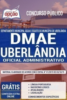 Apostila Concurso DMAE Uberlândia 2019 PDF e Impressa