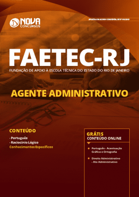 Apostila Concurso FAETEC 2019 Agente Administrativo Grátis Cursos Online