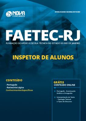 Apostila Concurso FAETEC 2019 Inspetor de Alunos Grátis Cursos Online